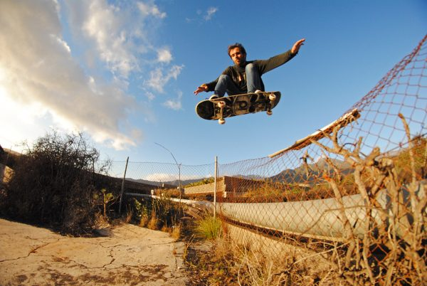 One way over the fence to get in is to ollie it!