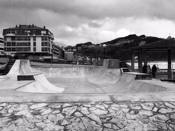 Zarautz skatepark. 2015. Photo: Pablo Rivera