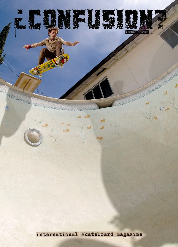 Confusion Magazine - issue #7 - Skreech acid dropping the diving board.  Photo: Jamie Camp