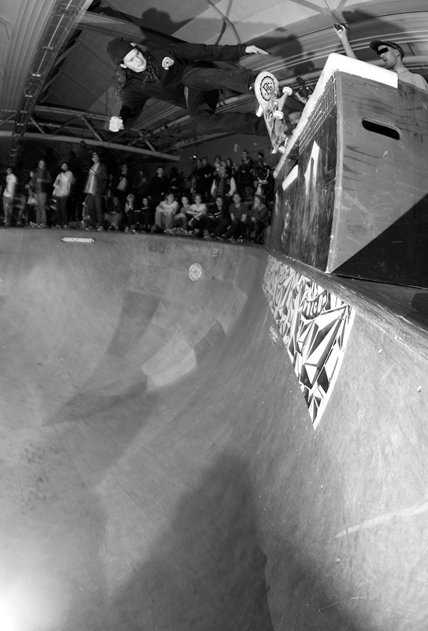 Nick Bax. Stand up 5-0 grind.