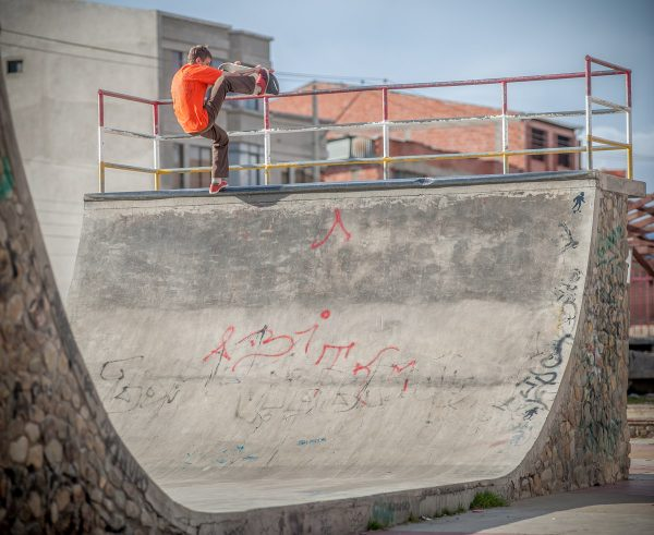 Arbel from England. Texas plant on the old concrete vert ramp.