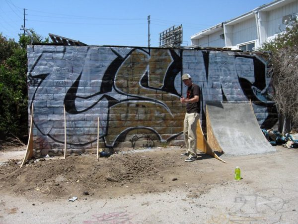"""Moving on to the rest of the face wall. Photo: Old Star """"Lurktown""""."""