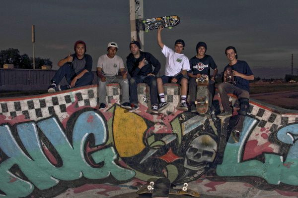 left to right - Joe, Angel, Kasper, Ralph, Alex (USP) and Lucas & Corona the Dawg (Skate FE)