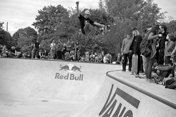 Danny Leon. Blasting the hip probably higher than anyone else has, yet. And he was kind of just cruising....  Photo: J. Hay