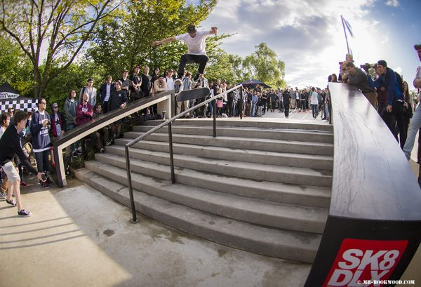 Marcel Weber (360 Flip Lipslide).  Photo: Mr. Bookwood