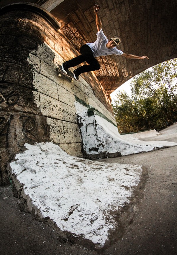 Backside wallride. Photo: Valentin Klinger