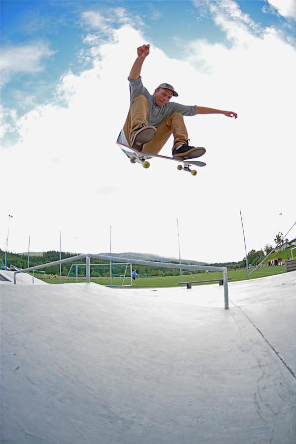 Henning Braaten. Frontside flip in Grøng.  Photo: Daryl Nobbs