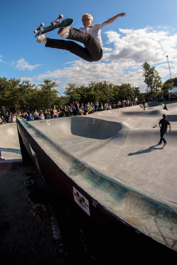 Kalle Berglind. Frontside air.  Photo: Amin Olve Klungseth Ullah