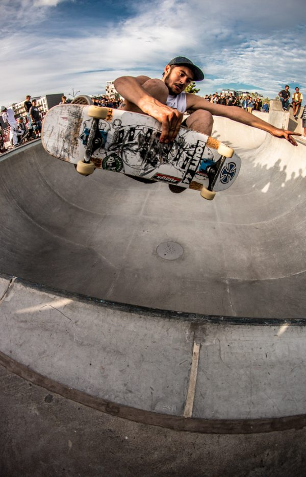 Henry Calmeyer. Frontside air on Chris Copes' board. Photo:  Amin Olve Klungseth Ullah