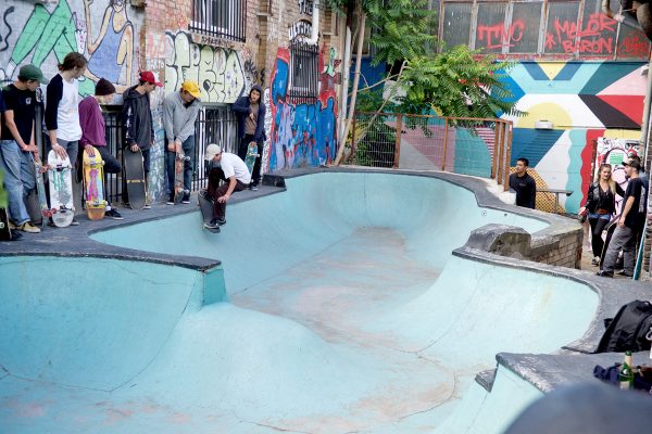 Jens Pepermans from Mechelen, Belgium. He's 13 years old. Front smith tailgrab.  Photo: J. Hay