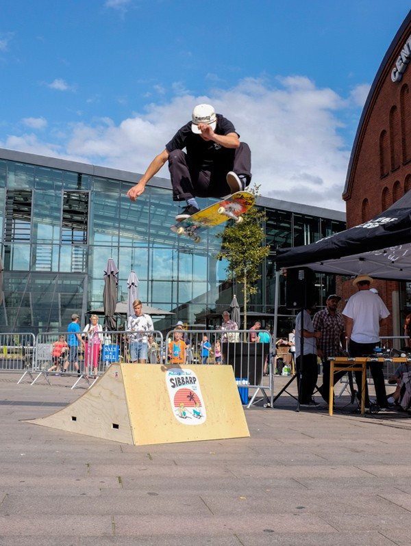 Launch ramp session at Malmö central station.