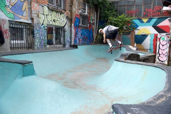 Martino Cattaneo. Backside ollie over the hip. Photo: J. Hay