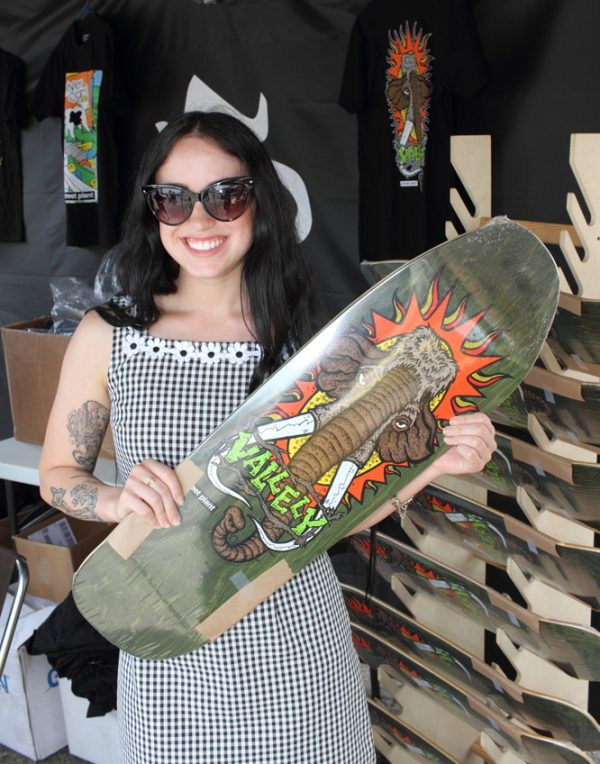 And Mike V's STREET PLANT brand were slinging some decks in the parking lot sale.