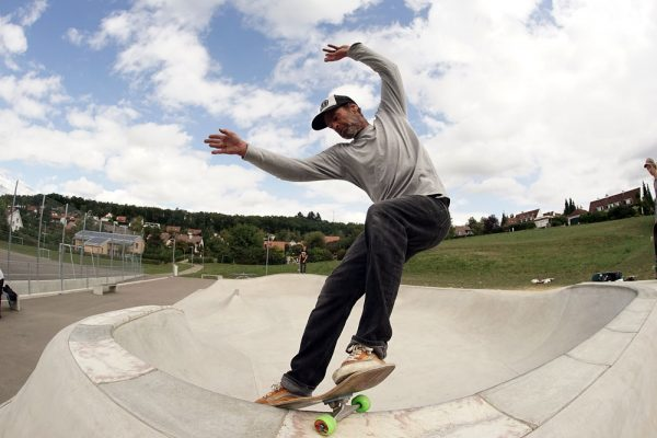 Pudi. Frontside smithgrind. Hofstetten in Switzerland, a park that Oli Bürgin and his crew built a few months back.