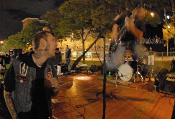 Punk rock n' roll concert.