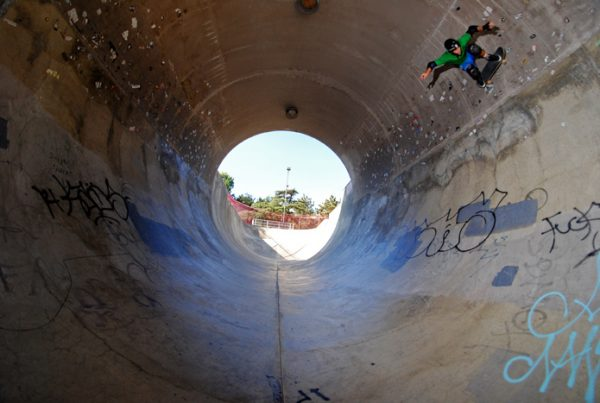Borja up there at Upland skatepark's upland fullpipe replica.