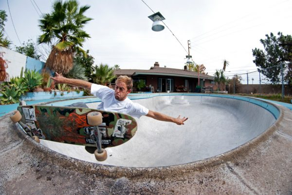 Borja Casas. Frontside grind in a california backyard pool. A dream come true...