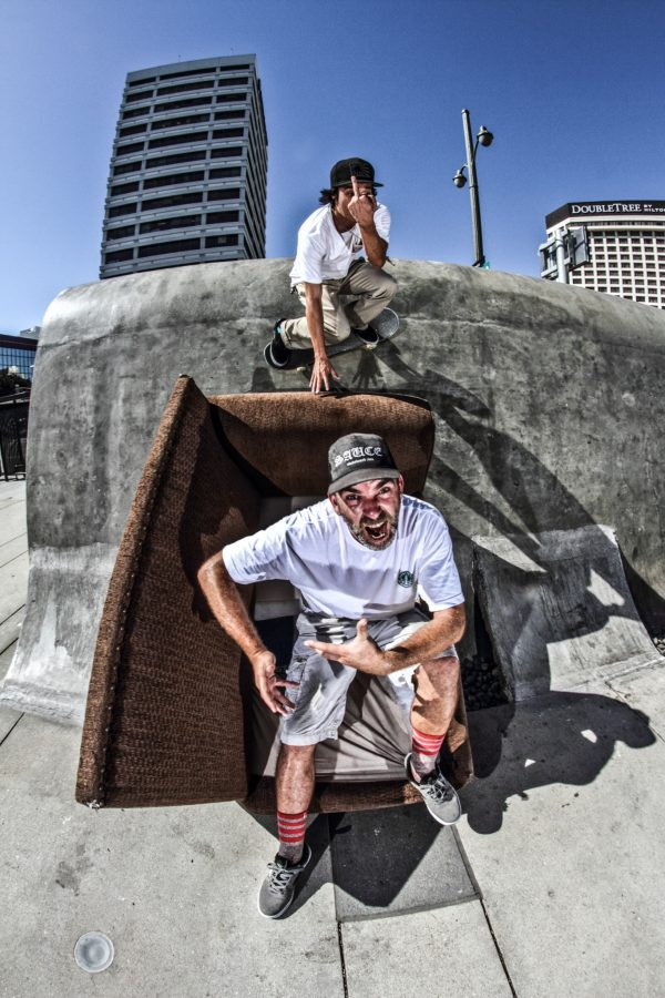 Koki Kasai flipping above Clayton Graul. Photo: Kasper