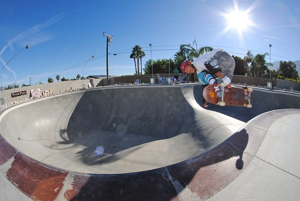 Salba. Backside air over the hip.