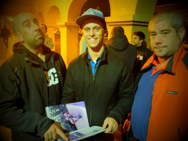 Koko, Borja Casas and Rigo checking out the book.