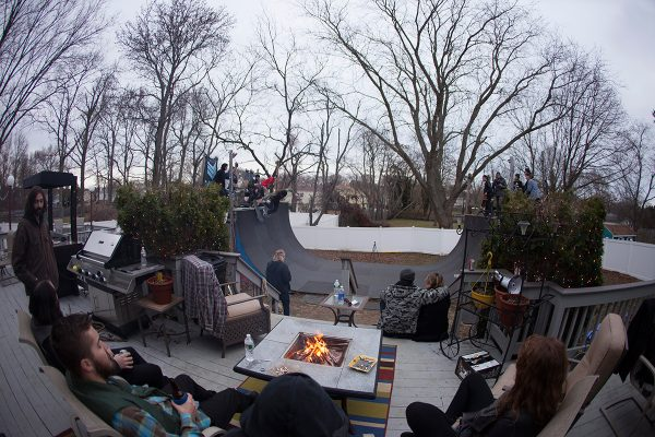 Overview of Zach Cuasno's Xmas Skarty at his parents' house in New Jersey. Photo: Zolidelphia
