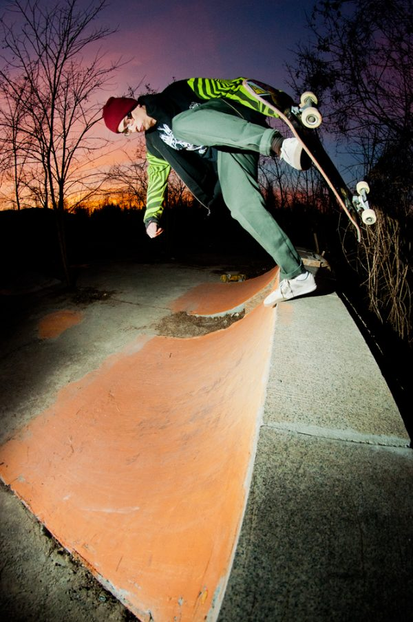 Martin Benchev. Backside  footplant.