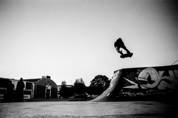 Lukas Halter shuts the session down with this air. Helsinki DIY
