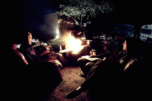 Chilling fireside