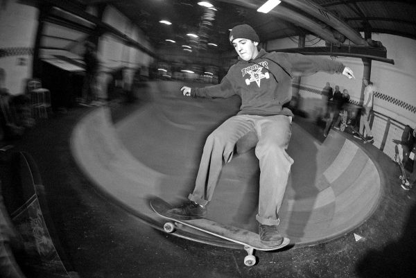 Forgot this kids name but working the deepend with high speed 50-50s, smiths and lipslides.