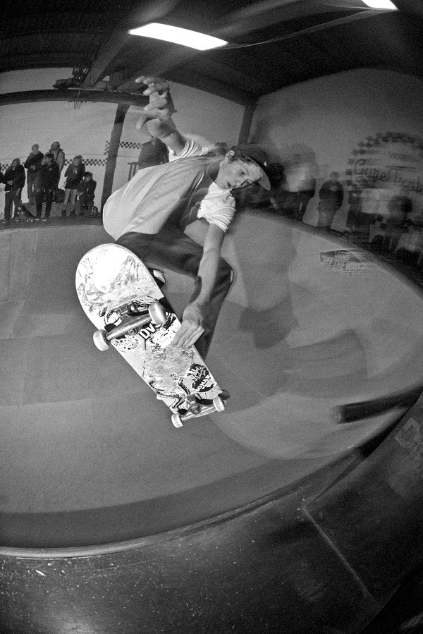 George Poole frontside off the rail to blindside.