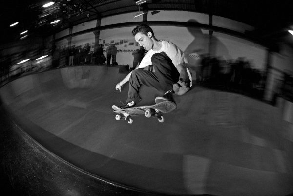 Ian Campbell. Ollie over the hip.