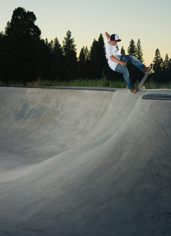 Nose blunt slide. Weed, California