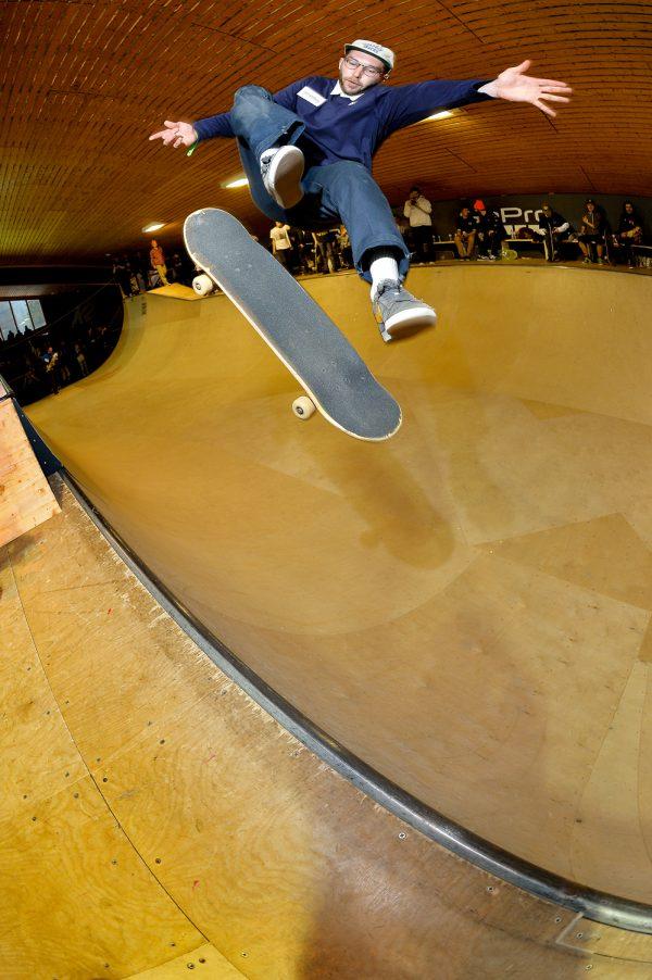 Aaron Wilmot. Frontside flip.