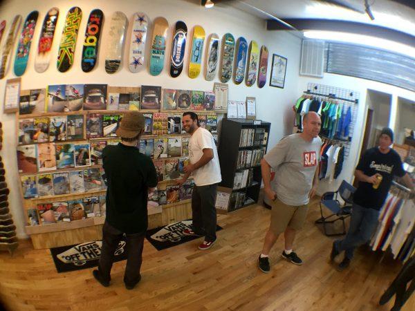 zine exhibit at SouthSide Skatepark