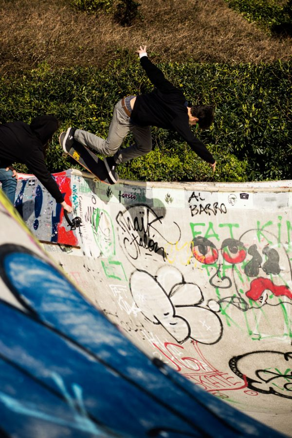 Avo. Backside disaster. Low to high. Cimadevilla skatepark in Gijón, Asturias