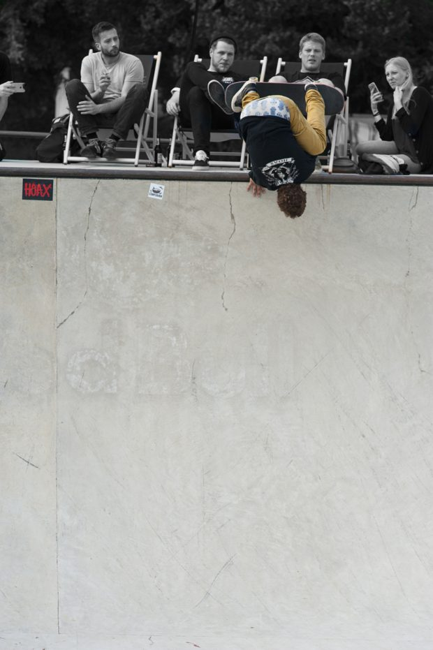 Jaime Mateu. Backside invert looking down 12 feet into the drain. Photo: Jo Hempel
