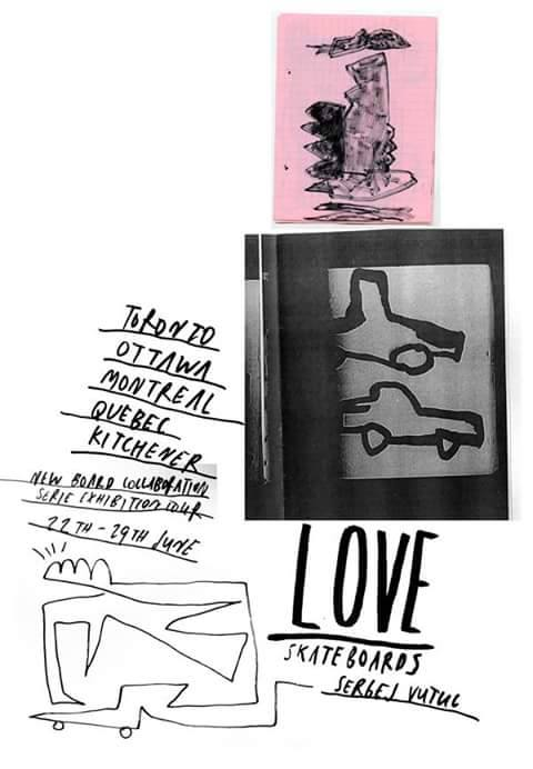 Sergej Vutuc x Love Skateboards flyer