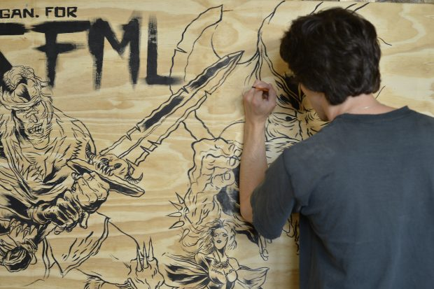 SFML art wall