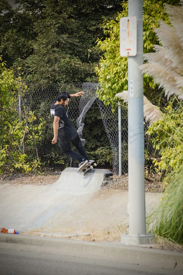 One of Oakland's finest shredders Hot Cheese blows through the spot with a front hurricane