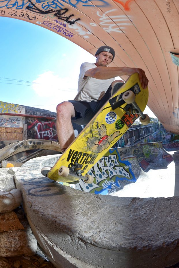 Kerry. Frontside tail tap.