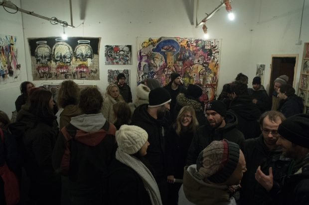 Did we mention the gallery was packed? Photo: Tomaž Šantl