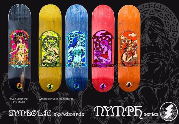 "Ferdz Valencia ""nymph series"" for Symbolic Skateboards"