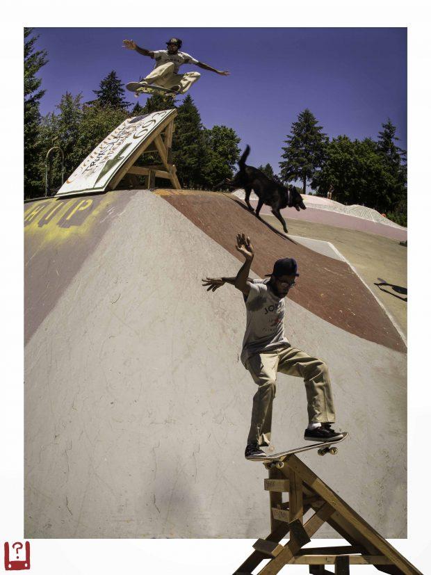 Cabrea Davis. Ninja Ollie and lipslide on unmoved sign