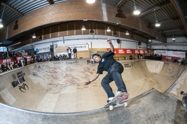 David Sanchez. Frontside transfer to lipslide. Photo: Nicola Debernardi
