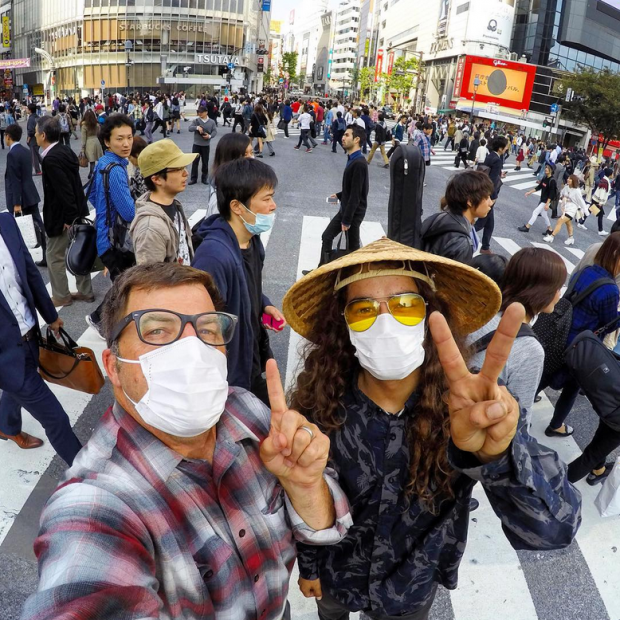 Shibuya Crossing madness with Cody Lockwood and photo Bryce Kanights.