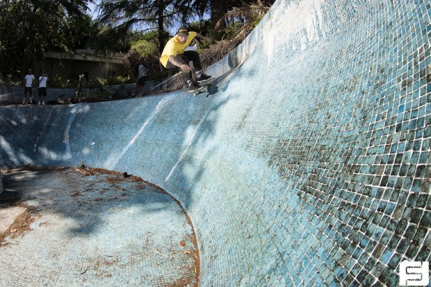 Captain Jairo. Dropping in the ceramic jungle pool.  Photo: Fred Ferand