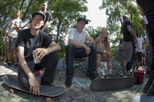 Ryan Miller, Andrew Clark, and Gloria. Photo: Zolidelphia