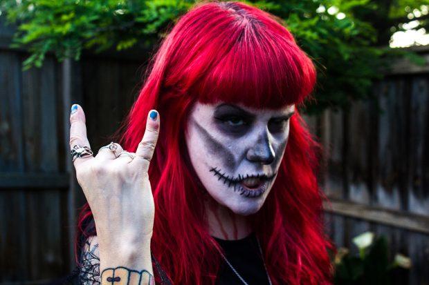 My beautiful, ever so tolerant wife Jo loves Samhain. Photo: Joshua Feggans