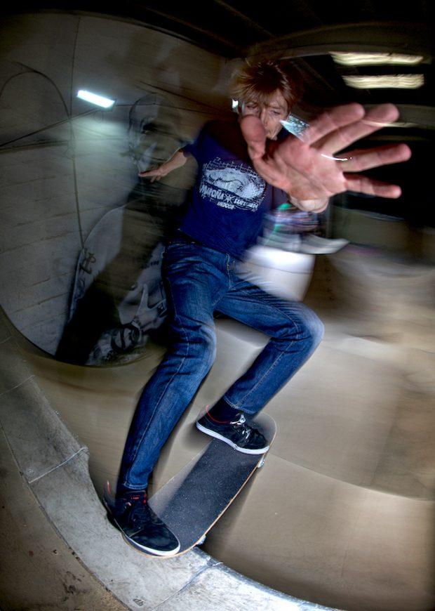 Tom Wiley. Frontside tailslide.