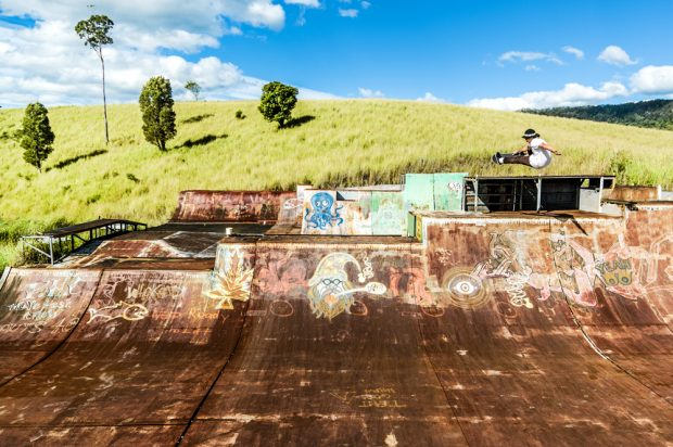 Munz. Frontside air at Trouts. Photo: Wade McLaughlin